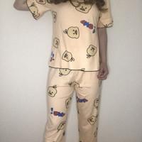 Baju tidur wanita jumbo setelan celana panjang / piyama bigsize - MOTI