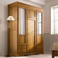 model baru lemari pakaian pintu 3 laci kayu jati minimalis