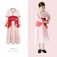 ORI Import 2020 New Mulan Costume Girl Dress Gaun Pesta Anak Perempuan