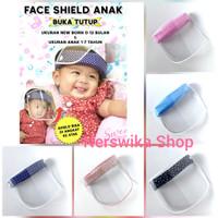 Faceshield Anak Bayi Buka Tutup / Face shild newborn
