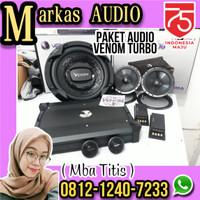 Promo PAKET VENOM TURBO Power 4ch Sub 12in Speaker 2way Audio Mobil