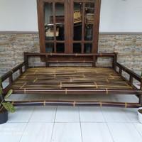 Bale Bambu Hitam Lebar P180xL120 cm