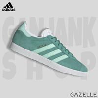 Sepatu Kets Casual Pria ADIDAS Gazelle Green/White 100% Original BNIB