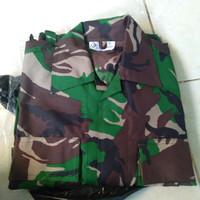 Baju PDL Tempur TNI ponco/Baju PDL TNI Tempur bahan velbed