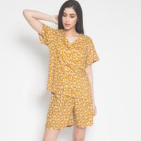 Less4More Dandelion Pajamas Yellow - Piyama Baju Tidur Anak Couple Mom