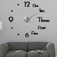 Jam Dinding Besar Raksasa DIY Giant Wall Clock 70 - 90 cm