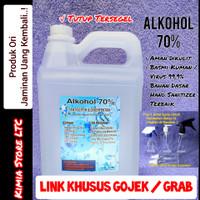 Alkohol 70% 5 Liter Murni, Antiseptik dan Disenfektan Terbaik - 70 Persen 5L