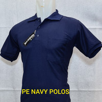kaos polo tshirt dongker polos saku navi blue kaos kerah wangki distro