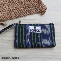 Pouch Tenun Etnik Lombok Dompet Batik Kondangan Tempat Pensil