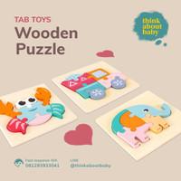Wooden Puzzle 1 Set isi 16 / Mainan Edukasi