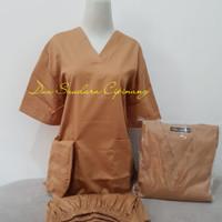 Baju ok/Lengan Pendek/Coklat/Merk Dua Saudara - XXS