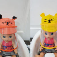Topi faceshield bayi / anak