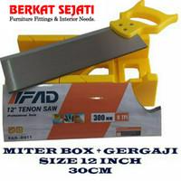GERGAJI PIGURA Siku Sudut Kayu Mitre Box Back Saw Figura 12 / 300 mm