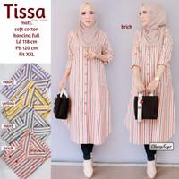 baju long tunik muslim wanita. tissa. motif garis cantik