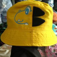 Topi Bucket anak Dino korea kuning