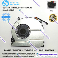 Cooling Fan Processor Laptop HP Pavilion Sleekbook 14-b009AU 14-b009