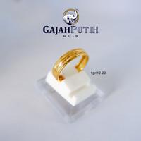 1 gr Cincin Emas Asli Model Bangkok Garis Tengah