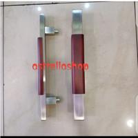 pull handel/gagang pintu kayu datar mahoni 35cm