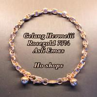 Gelang Tangan Cantik Model Hermeii Rosegold Kadar 75% Asli Emas