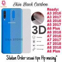 Skin Carbon Samsung A3 2016 A5 A6 A8 A7 Garskin Anti Gores Belakang