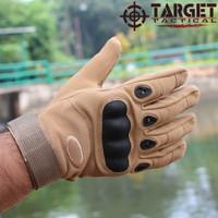 Sarung Tangan Motor Touring Tactical Oakleey Full - Krem, M