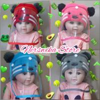 Topi Faceshield Newborn Bayi Baby/ Face Shield Anak Honey Bear