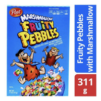 Post Sweetened Rice Cereal - Fruity Pebbles with Marshmallow NON HALAL