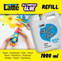 jual lem LATTE STYRO glue cair kental multifungsi refil UHU