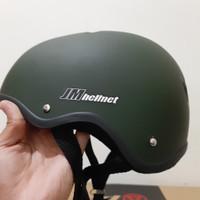 JM helm anak/remaja ,sepeda lipat/BMX - hijau army doff