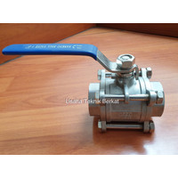 Ball valve sankyo type 3pcs body 1 1/2 inch ss 316