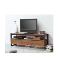Meja tv jati minimalis industrial,bufet rak lemari nakas tv industrial