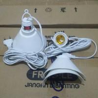 Fitting Gantung Lampu WD E27 Kabel 5 Meter + Rumah & Saklar On Off