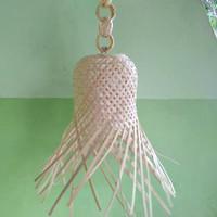 kap lampu krongso + rante bambu