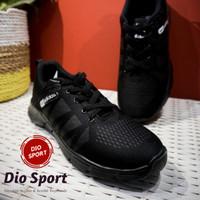 Sepatu Adidas neo main dan sekolah Pria wanita import full black - Hitam, 42