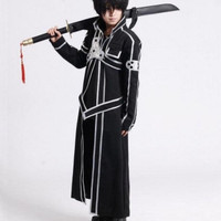 Kostum Kirito Sword Art Online Cosplay Anime