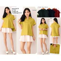 Blouse lengan pendek polos SA21B / Baju Atasan wanita blouse