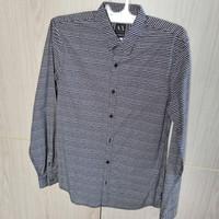 Kemeja Armani Exchange Grey Purple Long Sleeve Original 100%
