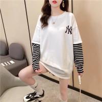 Kaos Dua Lapis NY stripped t shirt Panjang blackpink