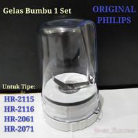 GELAS BUMBU 1SET BLENDER PHILIPS ORIGINAL HR-2115/2116/2061/2071