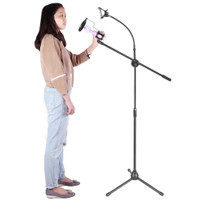 arm stand microphone mic smartphone holder mik lantai 360 degree smule