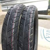 sepasang ban motor merek Michelin ukuran 70/90 dan 80/90 ring 14