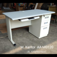 Meja tulis kantor 1/2 biro plat besi modern minimalis AA MD-120