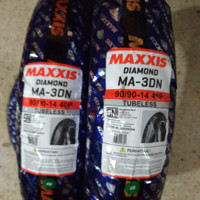 Paket Murah Ban Maxxis Diamond 80/90-14 & 90/90-14