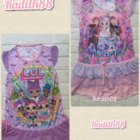 Baju dress harian anak perempuan bahan jersey ( 2-4 tahun )
