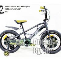 Sepeda Anak Roda Empat Cowok BMX United Tank Cakram Ban Jumbo 18