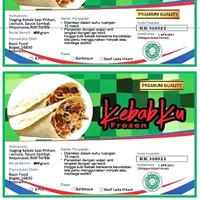 kebab Premium Dengan Merek KebabKu isi dalam satu pak 6 Kebab