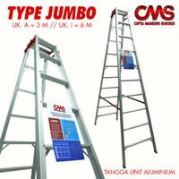 Tangga Lipat Aluminium Jumbo Uk 3 m/300cm Kokoh & Kualitas Terjamin