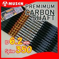 ARROW SHAFT PURE CARBON MUSEN 7.8mm Spine 350