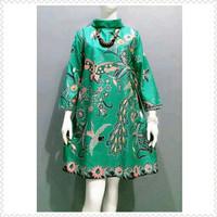 Baju blouse tunik jumbo ld 120 batik katun halus primis unggul jaya