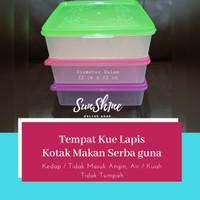 Tempat Kue Lapis / Kotak Makanan serbaguna / Bika Ambon / Bolu 24/22cm
